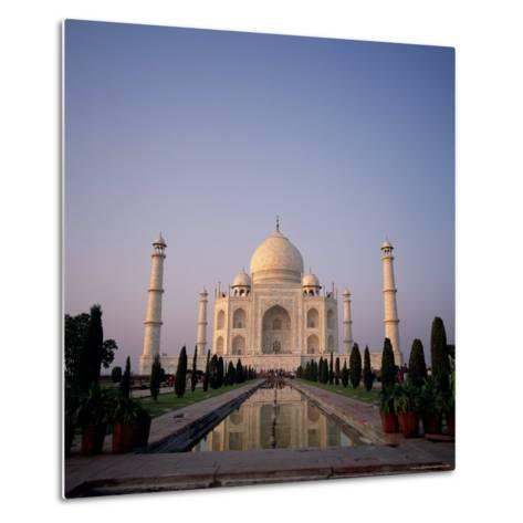 The Taj Mahal at Dawn, Agra, Uttar Pradesh, India-Tony Gervis-Metal Print
