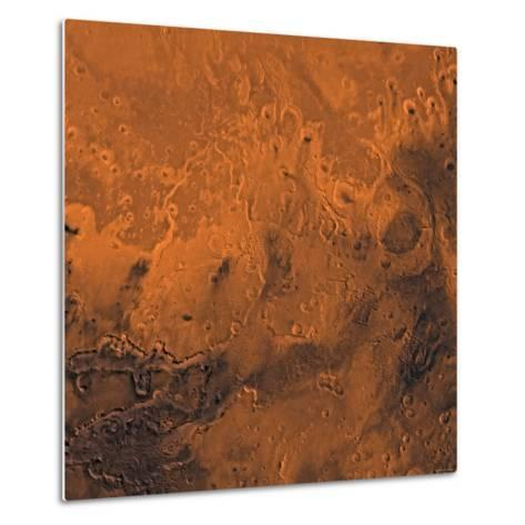 South Chryse Basin Valles Marineris Outflow Channels on Mars-Stocktrek Images-Metal Print