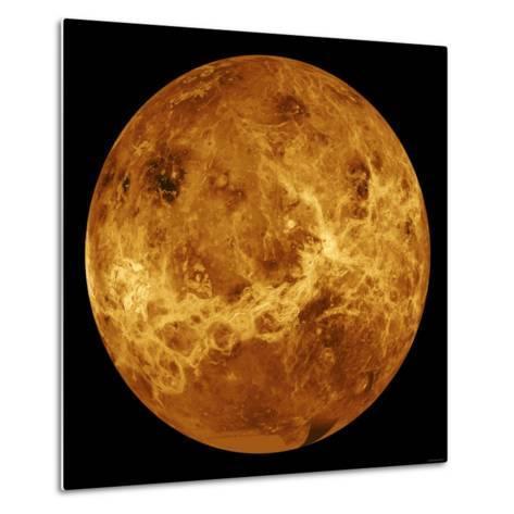 Global View of the Surface of Venus-Stocktrek Images-Metal Print