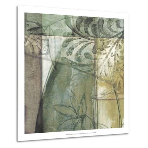 Non-Embld. Stained Glass Garden II-Jennifer Goldberger-Metal Print