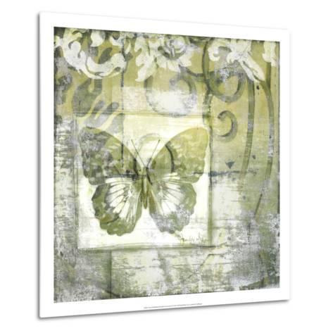 Non-Embld. Butterfly & Ironwork IV-Jennifer Goldberger-Metal Print