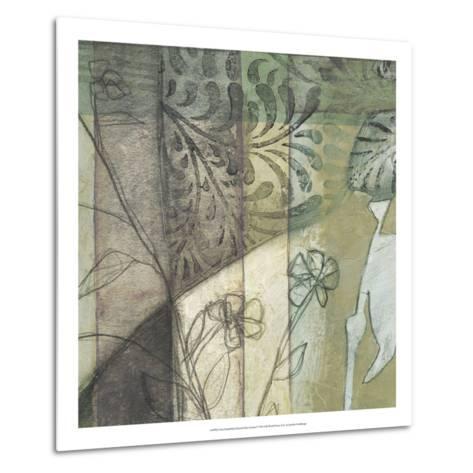 Non-Embld. Stained Glass Garden I-Jennifer Goldberger-Metal Print