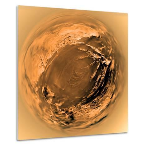Fish-Eye View of Titan's Surface-Stocktrek Images-Metal Print