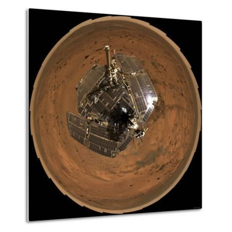 Mars Exploration Rover on the Surface of Mars-Stocktrek Images-Metal Print