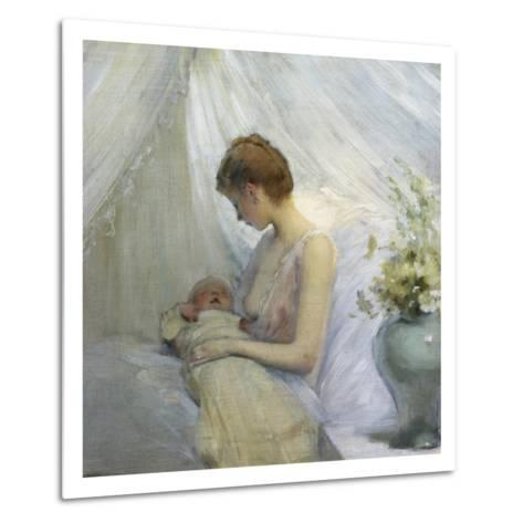 Young Woman and Baby-Jules Jean Geoffroy-Metal Print
