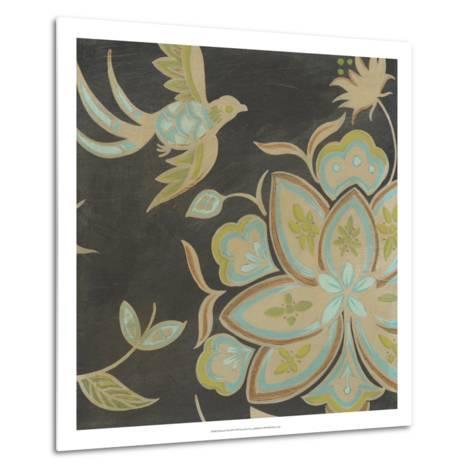 Heirloom Floral III-Erica J^ Vess-Metal Print