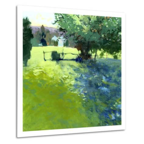 Field with House-Lou Wall-Metal Print