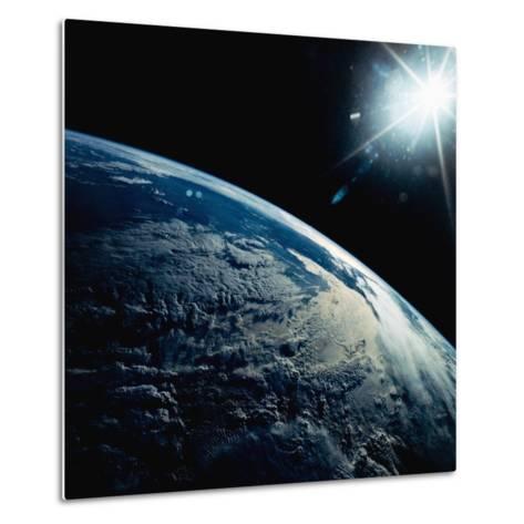 Earth Seen from Space Shuttle Discovery-Bettmann-Metal Print