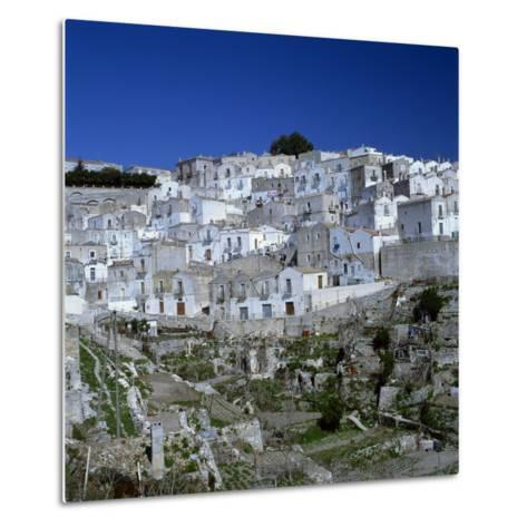 Houses of the Village of Monte Sant Angelo in Puglia, Italy, Europe-Tony Gervis-Metal Print