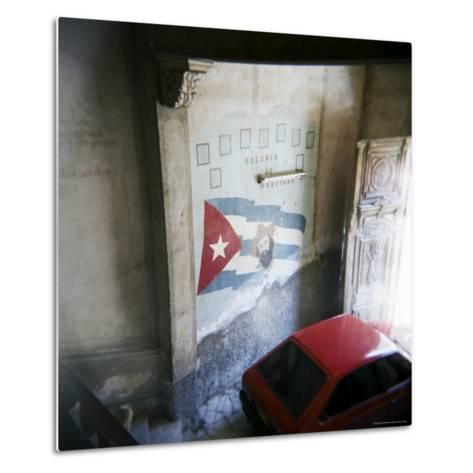 Mural of Camilo Cienfuegos on the Wall of an Apartment Building, Havana, Cuba-Lee Frost-Metal Print