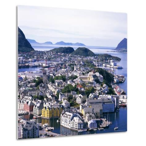 View Over Alesund, More Og Romsdal, Norway, Scandinavia, Europe-Geoff Renner-Metal Print