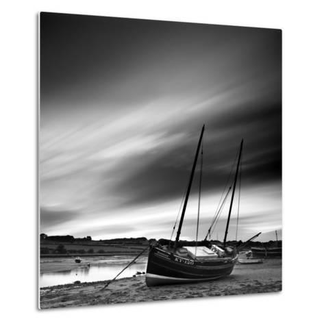 Aln Estuary at Low Tide, Alnmouth, Alnwick, Northumberland, England, UK-Lee Frost-Metal Print