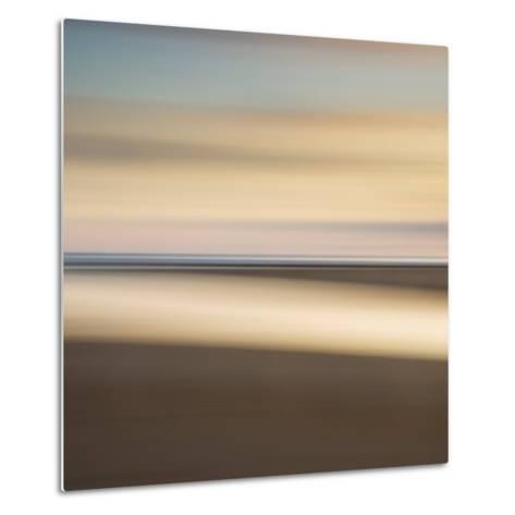 Abstract Image of the View from Alnmouth Beach to the North Sea, Alnmouth, England, UK-Lee Frost-Metal Print