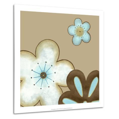 Pop Blossoms in Blue I-Erica J^ Vess-Metal Print