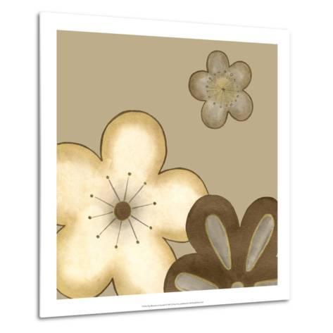 Pop Blossoms in Neutral I-Erica J^ Vess-Metal Print