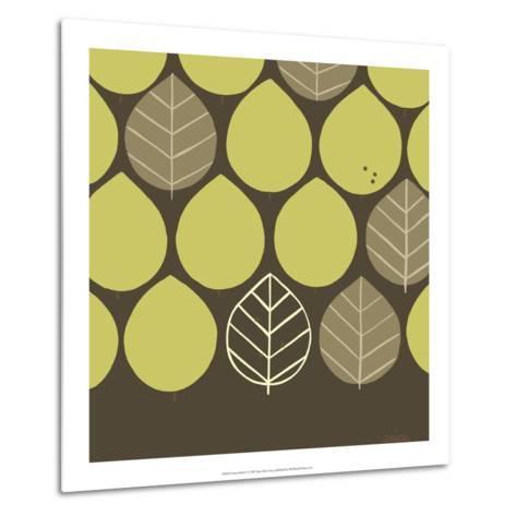 Forest Motif I-Erica J^ Vess-Metal Print