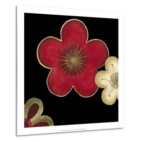 Pop Blossoms in Red II-Erica J^ Vess-Metal Print