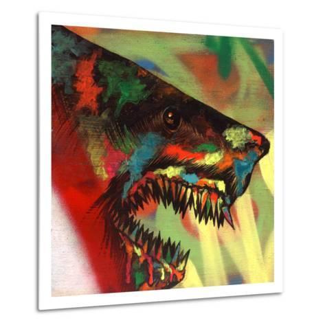 Shark Head Study 1-Shark Toof-Metal Print