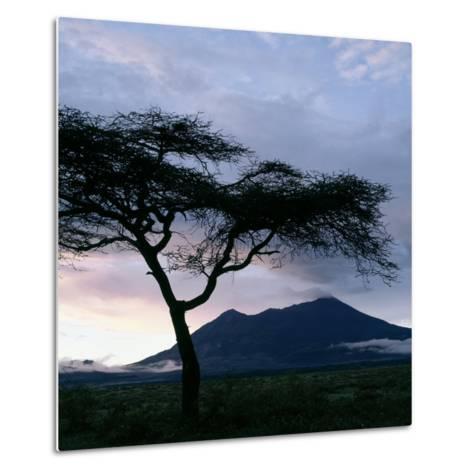 Dawn Breaks over Mount Meru, Tanzania-Nigel Pavitt-Metal Print