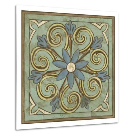 Non-Embellished Ornamental Tile III--Metal Print