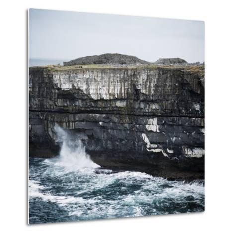 Black Fort, Aran Islands, County Galway, Connacht, Republic of Ireland, Europe-Andrew Mcconnell-Metal Print