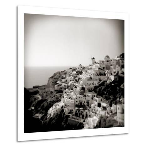 Polaroid of View of the Village of Oia, Santorini, Cyclades, Greek Islands, Greece, Europe-Lee Frost-Metal Print