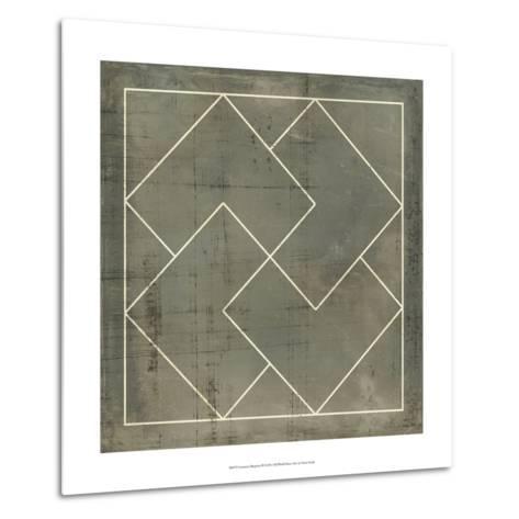 Geometric Blueprint III--Metal Print