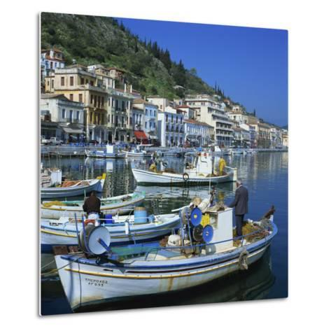 Fishing Boats at Port Town of Neapoli, Peloponnese, Greece, Europe-Tony Gervis-Metal Print