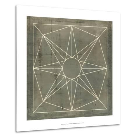 Geometric Blueprint VII--Metal Print