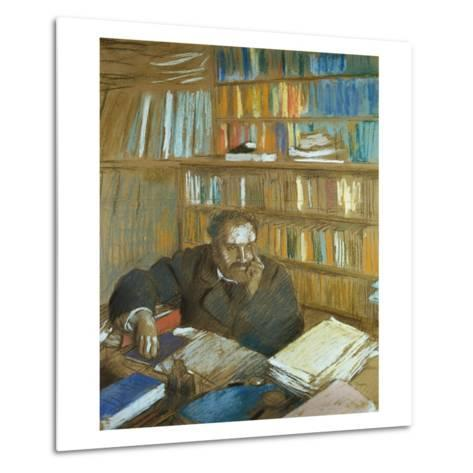Portrait of Edmond Duranty-Edgar Degas-Metal Print