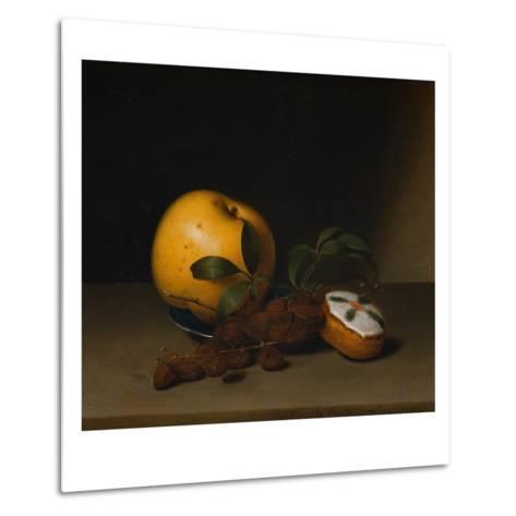 Still Life with Cake-Raphaelle Peale-Metal Print