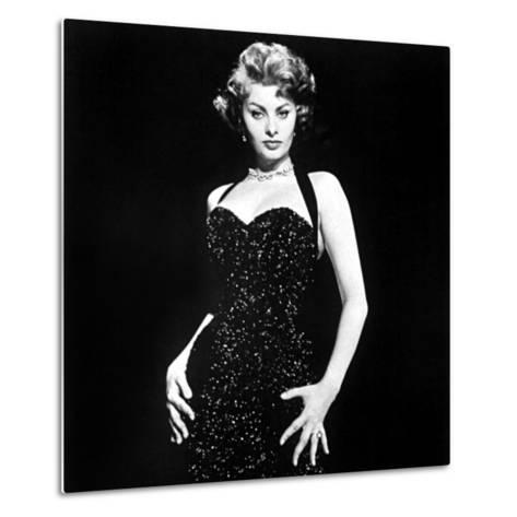 Publicity Shot of Sophia Loren Used to Promote Pride and the Passion, 1957--Metal Print