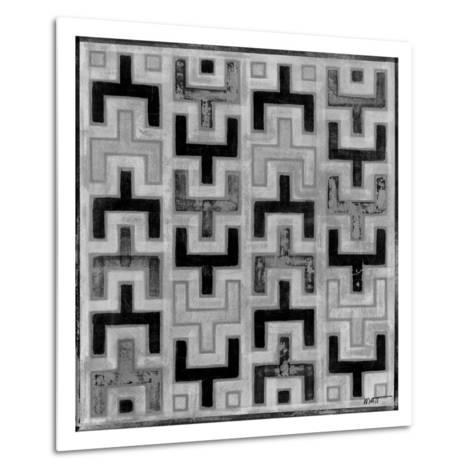 Mudcloth Black and White I-Norman Wyatt Jr^-Metal Print