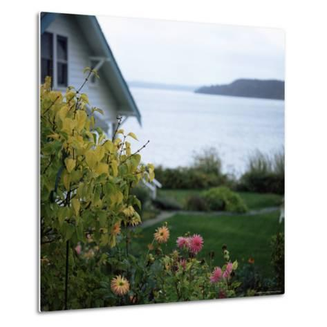View of Puget Sound, Vashon Island, Washington State, USA-Aaron McCoy-Metal Print