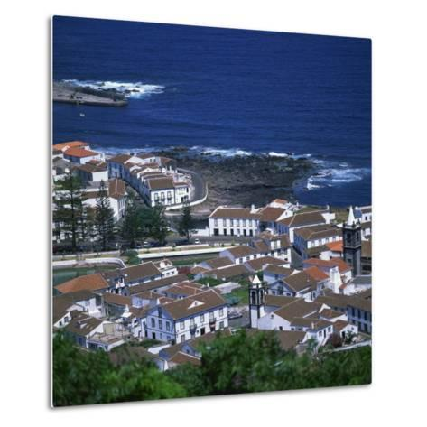 Houses and Coastline in the Town of Santa Cruz on the Island of Graciosa in the Azores, Portugal-David Lomax-Metal Print