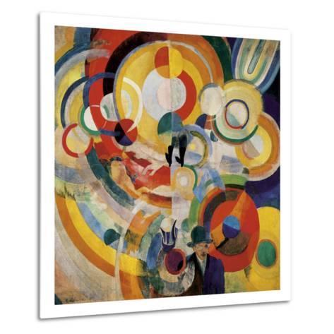 Carousel with Pigs-Robert Delaunay-Metal Print