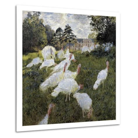 The Turkeys at the Chateau De Rottembourg, Montgeron-Claude Monet-Metal Print