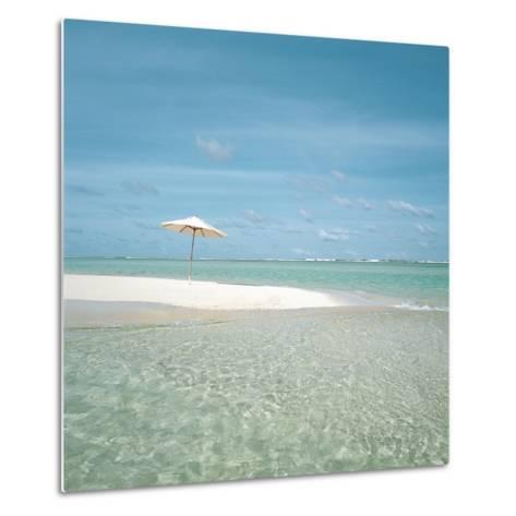 Surf and Sandy Beach--Metal Print