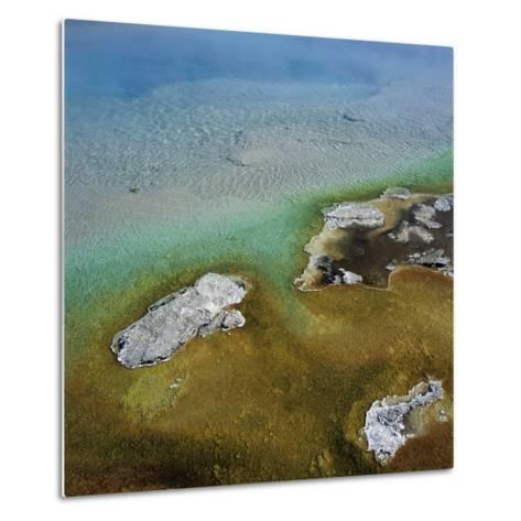 Islands Surrounded by Water Pollution--Metal Print