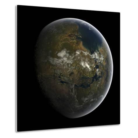 Artist's Concept of a Terraformed Mars-Stocktrek Images-Metal Print