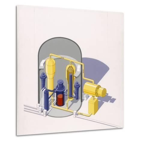 A Painting of an Improved Reactor Design by Pierre Mion-Pierre Mion-Metal Print