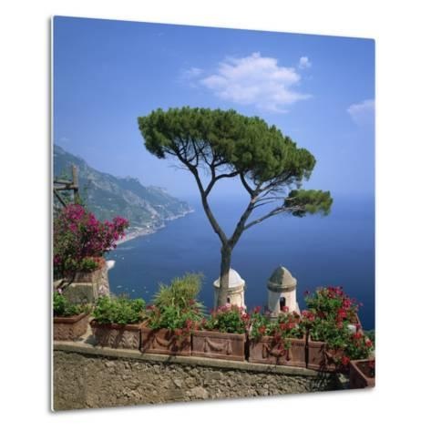 Garden of Villa Rufolo, Ravello, Amalfi Coast, UNESCO World Heritage Site, Campania, Italy, Europe-Roy Rainford-Metal Print