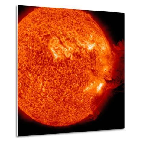 A M-2 Solar Flare with Coronal Mass Ejection-Stocktrek Images-Metal Print
