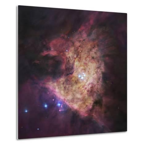 The Center of the Orion Nebula, known as the Trapezium Cluster-Stocktrek Images-Metal Print