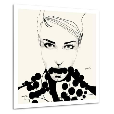 Pearls-Manuel Rebollo-Metal Print