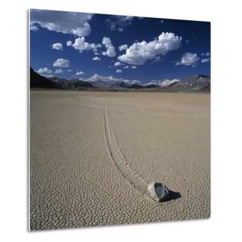 Rock Pushed by Wind in Desert-Micha Pawlitzki-Metal Print