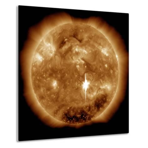 A Massive X-Class Solar Flare Erupts on the Sun-Stocktrek Images-Metal Print
