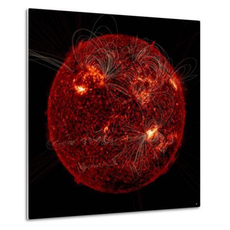 Magnetic Field Lines on the Sun-Stocktrek Images-Metal Print