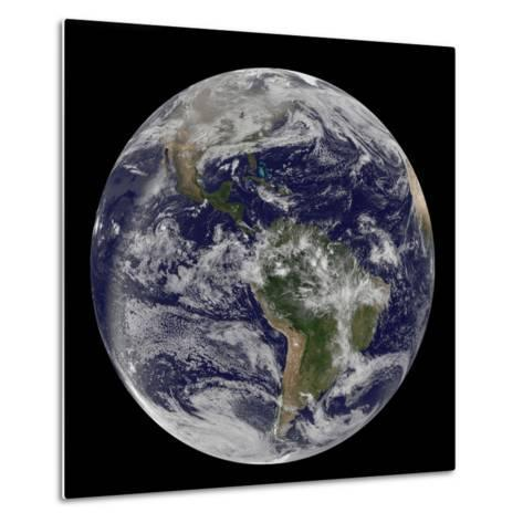 Full Earth Showing North America and South America-Stocktrek Images-Metal Print