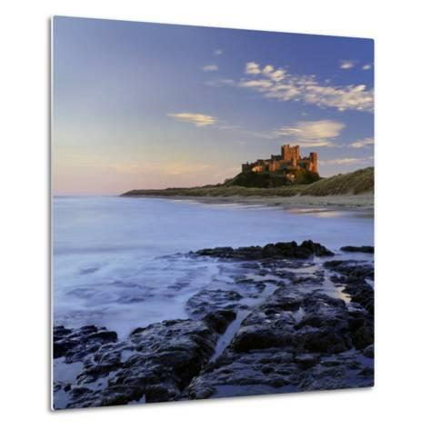 Bamburgh Castle Bathed in Warm Evening Light, Bamburgh, Northumberland, England, United Kingdom-Lee Frost-Metal Print